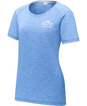 Ladies PosiCharge Tri-Blend Wicking Raglan Tee
